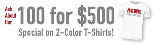 Discount t-shirt printing deal from Tower Media and Printing in Mesa, Gilbert, Chandler, Arizona, AZ