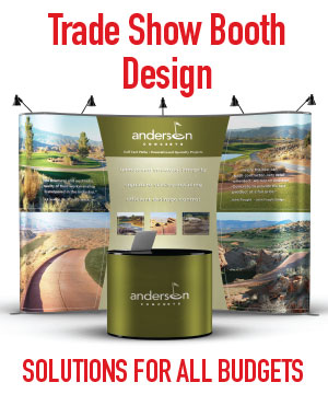 complete trade show booth design, curve walls, banners, backdrops, literature stands, interactive games and more. Professional graphics and printing supplier in Mesa, Phoenix Arizona, AZ