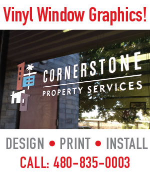 store front signs for business, window lettering, cut vinyl application in Mesa, Tempe, Chandler, Gilbert AZ