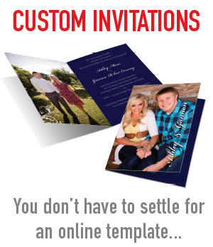 We can design a custom wedding announcement or invitation for you. East Valley professional graphics and printing company.