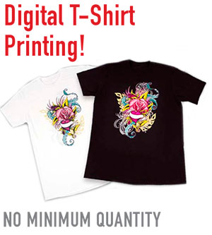 Digital t-shirt printing no minimum required
