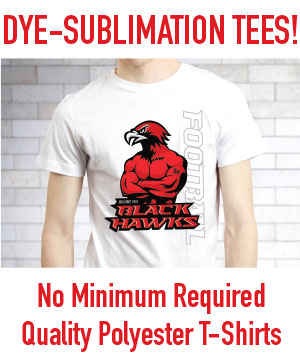 full color dye sublimation printing on polyester shirts in mesa, gilbert, chandler Arizona, AZ