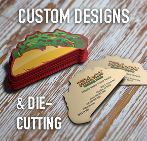 Where can I get custom die-cut business cards in Arizona. AZ Custom die-cut cards