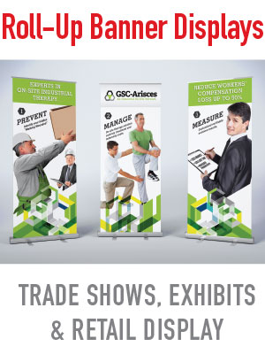 professional graphic design and pop-up retractible banner stands in mesa, tempe, phoenix arizona AZ