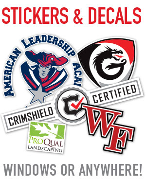 Custom design and printing of decals and stickers for anything and everything including doors, walls, cars, windows and more. Professional graphics and printing in Mesa, tempe, chandler, gilbert AZ